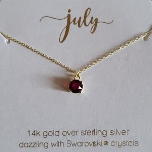 Francesca's month of July necklace.